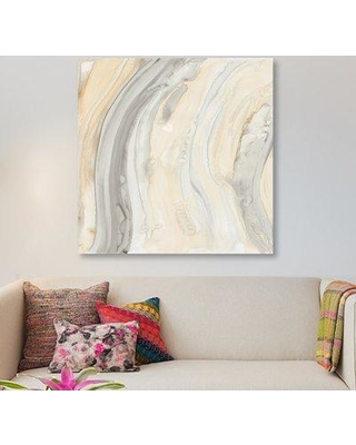 """East Urban Home 'Alabaster II' Print on Wrapped Canvas ERNI7566 Size: 26"""" H x 26"""" W x 1.5"""" D"""