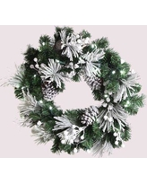 Queens of Christmas Flocked Wreath WL-GWFL24-WC-PW