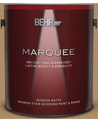 BEHR MARQUEE 1 gal. #300F-5 Brown Rabbit Matte Interior Paint and Primer in One