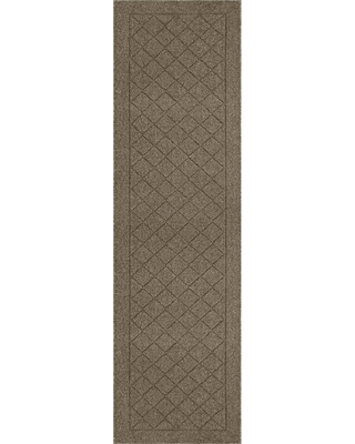 Tan Diamond Tufted and Hooked Washable Runner 2'X7' - Threshold