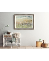 Somerset House Publishing Inc. 31.5 in. x 43.5 in. 'Muted Grasses' by Patricia Pinto Textured Paper Print Framed Wall Art, Framed Textured Print