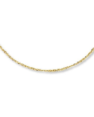 Jared The Galleria Of Jewelry Chain Necklace 14K Yellow Gold 18 Length