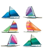 Paper House Productions ST-2181E Photo Real Stickypix Stickers, 2-Inch by 4-Inch, Sailboats (6-Pack)