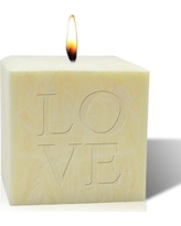 Carved Solutions Palm Wax Love Pure Aromatherapy Votive Candle el4c-pd-love