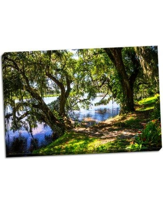 Ebern Designs 'Ashley River Bank I' Photographic Print on Wrapped Canvas BF056380
