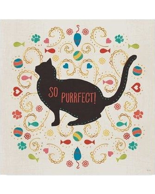 "Winston Porter 'Otomi Cats III' Graphic Art Print on Wrapped Canvas WNPO3638 Size: 14"" H x 14"" W x 2"" D"