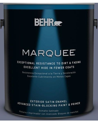 BEHR MARQUEE 1 gal. #MQ5-11 Encore Satin Enamel Exterior Paint and Primer in One