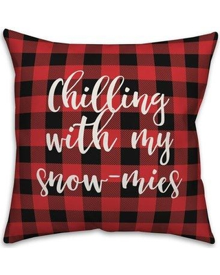 The Holiday Aisle Glenville Snowmies in Buffalo Check Plaid Throw Pillow W000774768 Product Type: Throw Pillow