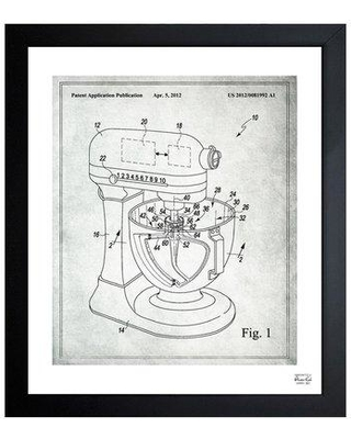 """Oliver Gal Stand Mixer Wiping Beater 2012 Framed Graphic Art 1B00378 Size: 19.5"""" H x 16.5"""" W x 0.5"""" D"""