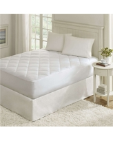 Ensure Waterproof 100% Cotton Sateen Quilted Down Alternative Mattress Pad (Full) White