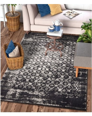 """Well Woven Sydney Vintage Manchester Modern Abstract Distressed Grey 9'3"""" x 12'6"""" Area Rug"""