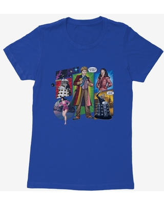 Doctor Who The Sixth Doctor Comic Scene Womens T-Shirt