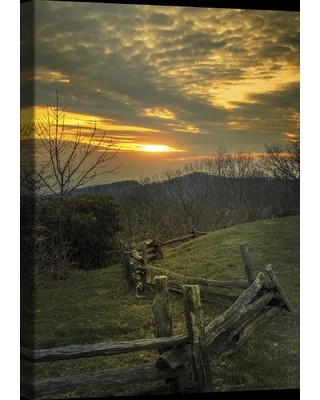 """Ashton Wall Décor LLC Country Colors 'Setting on the Fence' Photographic Print on Wrapped Canvas 6809 / 6810 Size: 36"""" H x 24"""" W x 2"""" D"""