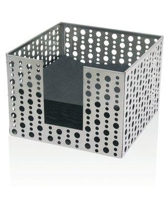 Front Of The House Stainless Steel Dots Napkin Holder (Set of 2) BHO039BSS21 Color: Silver