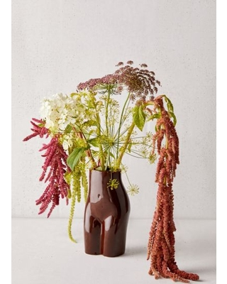 Female Form Vase - Brown at Urban Outfitters