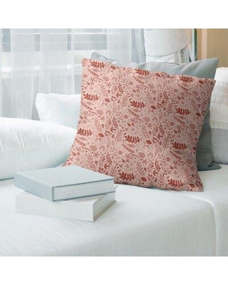 "East Urban Home Autumn Foliage Floral Throw Pillow FCNY8716 Color: Red Size: 26"" x 26"""