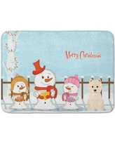 The Holiday Aisle Merry Christmas Carolers Westie Memory Foam Bath Rug THLA5405