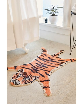 Tiger Bath Mat - Orange at Urban Outfitters