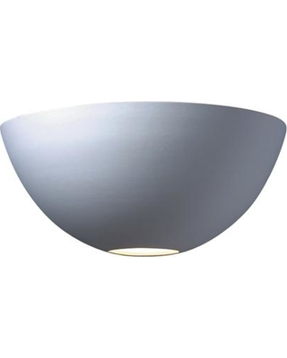 Justice Design Ambiance 1-Light Large Metro Bisque Wall Sconce