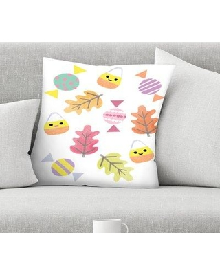 "East Urban Home Kathryn Selbert Candy and Leaves Throw Pillow EBHW1559 Size: 20"" x 20"""