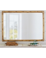 Bamboo Mirror Gold Accent