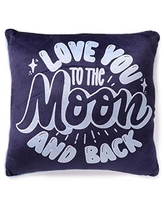 """Heritage Kids """"Love You to The Moon and Back Soft Mink Square Decorative Throw Pillow, 16""""x16"""""""