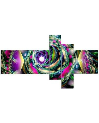East Urban Home 'Colorful Exotic Whirlpool Flower' Graphic Art Print Multi-Piece Image on Canvas EABO2103
