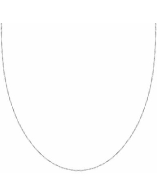 """Primrose Sterling Silver Twist Curb Chain Necklace, Women's, Size: 18"""", Grey"""