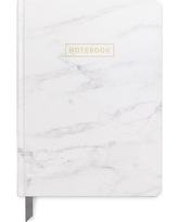 """Marble Journal with Gold Foil, 5"""" x 7.25"""" - DesignWorks Ink, White"""