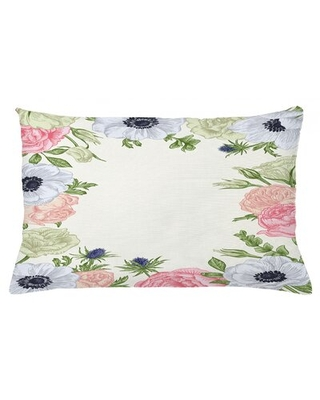 """Anemone Flower Indoor/Outdoor Floral Lumbar Pillow Cover East Urban Home Size: 16"""" x 26"""""""