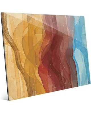 """Click Wall Art Watercolor Waving Painting Print CBS0002337ACR Size: 11"""" H x 14"""" W x 1"""" D"""