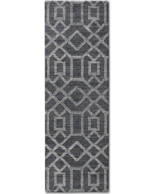 """2'4""""X7' Tapestry Tufted Geometric Accent Rug Charcoal Heather - Project 62 , Size: 2'4""""X7' RUNNER, Grey Grey"""