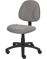 Deluxe Posture Chair Grey - Boss Office Products
