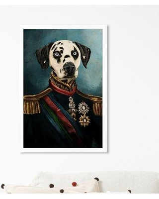 """Wrought Studio 'Dalmation Duke' Acrylic Painting Print W000674060 Size: 26"""" H x 18"""" W x 0.5"""" D Format: White Framed Paper"""
