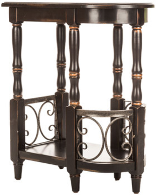 Black Accent Table with Rounded Edge