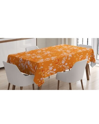 Vivid Blooming Tree Branches Spring Flower Petals Happy Essence Beauty Tablecloth East Urban Home