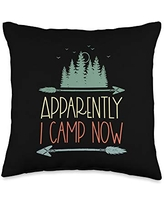 Matching Family Camping Gifts Retro Arrow New Camper Owners First Time Camping Gear Child Throw Pillow, 16x16, Multicolor