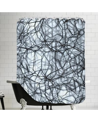 East Urban Home Healthy Neurons Biology System Cell Single Shower Curtain ESRB5489 Color Black