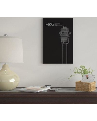 """East Urban Home 'HKG Tower Hong Kong International Airport' By 08 Left Graphic Art Print on Canvas EUME2218 Size: 60"""" H x 40"""" W x 1.5"""" D"""