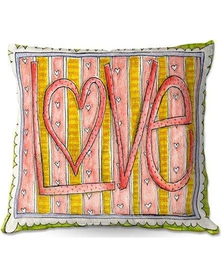 """Harriet Bee Rosette Couch Love Throw Pillow W000145557 Size: 20"""" x 20"""""""