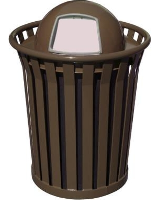 Witt Wydman Receptacle 36 Gallon Swing Top Trash Can WC3600-DT Color: Brown