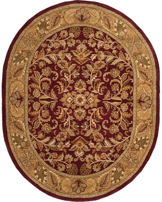 Safavieh Heritage Red/Gold 8 ft. x 10 ft. Oval Area Rug