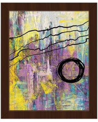 """Click Wall Art Harmonious Blackberry Crisis Framed Painting Print on Canvas ABS0011631FRA Size: 16.5"""" H x 13.5"""" W Format: Espresso Framed"""