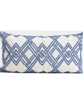 G Home Collection Handmade Textured Beaded Lumbar Pillow ML141082-p