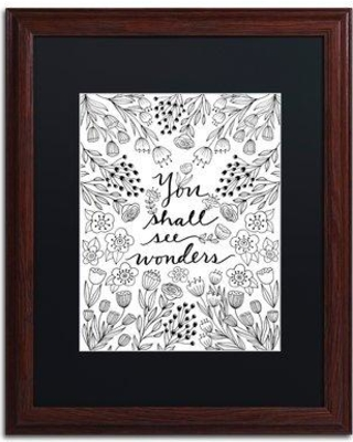 """Trademark Art 'You Shall See Wonders BW' Framed Graphic Art Print ALI5553-W1 Matte Color: Black Size: 20"""" H x 16"""" W x 0.5"""" D"""