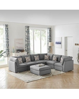 Sales On Gosnell 120 5 Wide Reversible Modular Corner Sectional Greyleigh Upholstery Color Beige