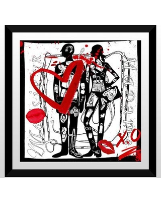 "PicturePerfectInternational 'Madame and Monsieur' Framed Graphic Art Print 704-1736 Size: 27.5"" H x 27.5"" W x 0.75"" D Format: Black Plexiglass Frame"