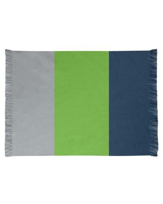 East Urban Home Seattle Football Blue/Gray/Green Area Rug EBIJ9329 Backing: Yes