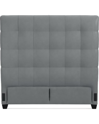 """Gable 60"""" Headboard Only, King, Tuscan Leather, Dove"""