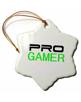 Pro Gamer Fun Snowflake Holiday Shaped Ornament The Holiday Aisle®